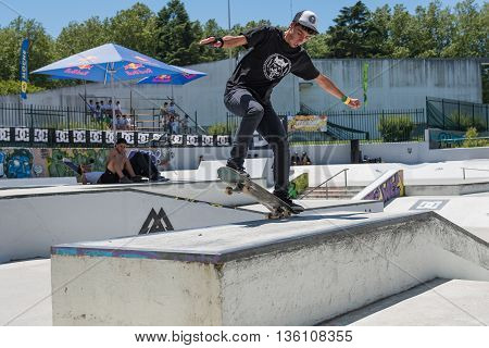 Ruben Castro During The Dc Skate Challenge