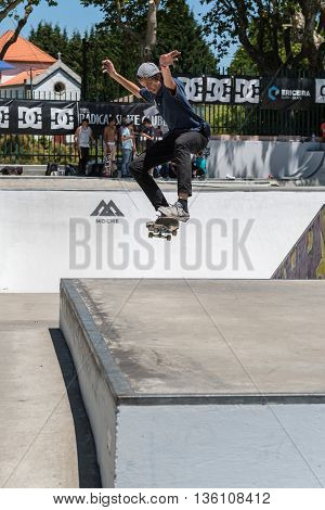 Miguel Pinto During The Dc Skate Challenge