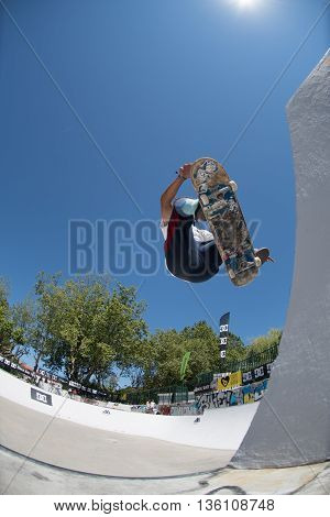 Afonso Nery During The Dc Skate Challenge