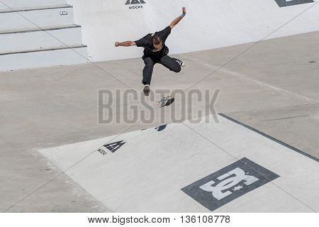 Igor Smith During The Dc Skate Challenge