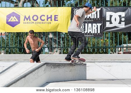 Nuno Cardoso During The Dc Skate Challenge