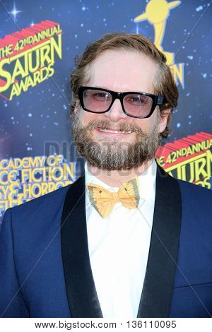 Bryan Fuller arrives at the 42nd Annual Saturn Awards on Wednesday, June 22, 2016 at the Castaway Restaurant in Burbank, CA.