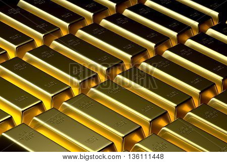 Gold Bullion Bar Background