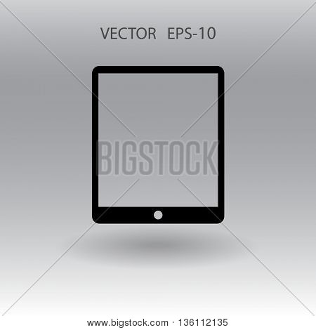 Flat icon of touchpad