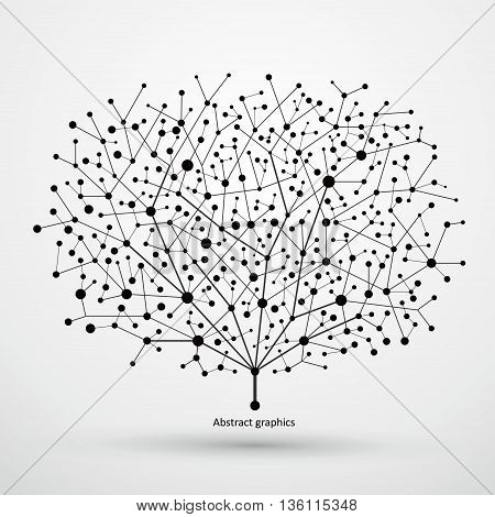 Of points and lines of trees abstract graphics.