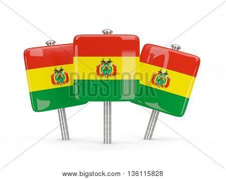 Flag Of Bolivia, Three Square Pins