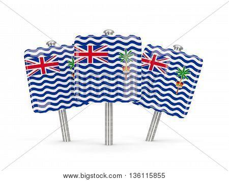 Flag Of British Indian Ocean Territory, Three Square Pins