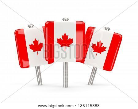 Flag Of Canada, Three Square Pins