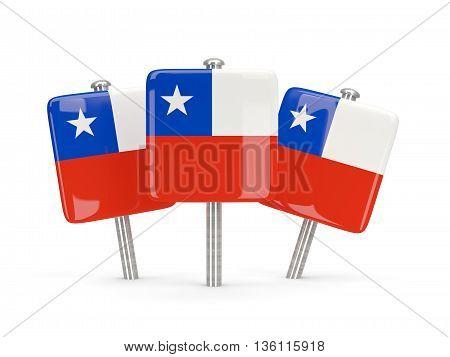 Flag Of Chile, Three Square Pins