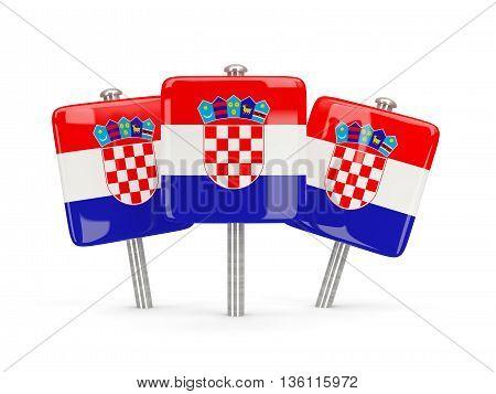 Flag Of Croatia, Three Square Pins