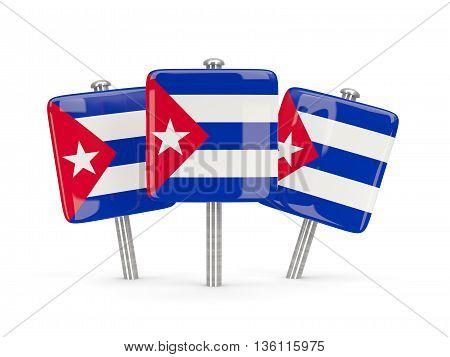 Flag Of Cuba, Three Square Pins