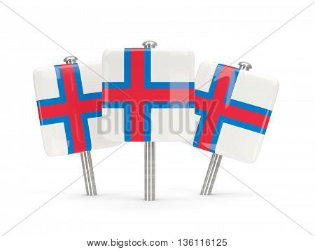 Flag Of Faroe Islands, Three Square Pins