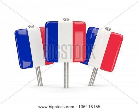 Flag Of France, Three Square Pins