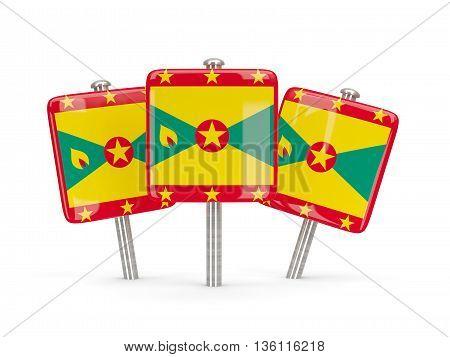 Flag Of Grenada, Three Square Pins