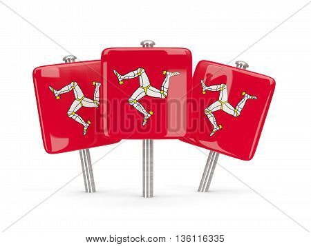 Flag Of Isle Of Man, Three Square Pins