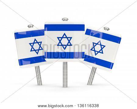 Flag Of Israel, Three Square Pins