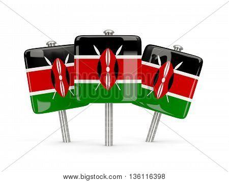 Flag Of Kenya, Three Square Pins