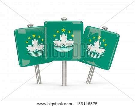 Flag Of Macao, Three Square Pins