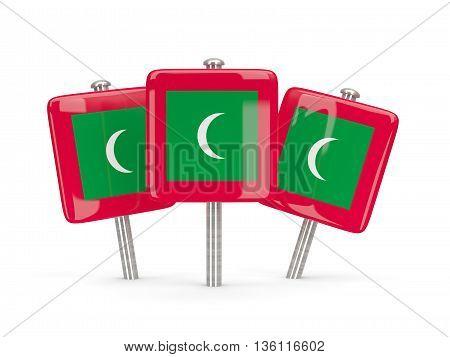 Flag Of Maldives, Three Square Pins