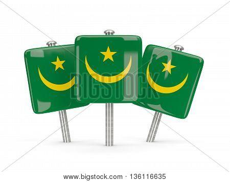 Flag Of Mauritania, Three Square Pins