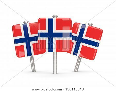 Flag Of Norway, Three Square Pins