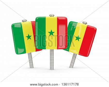 Flag Of Senegal, Three Square Pins