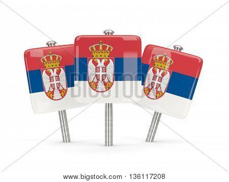 Flag Of Serbia, Three Square Pins