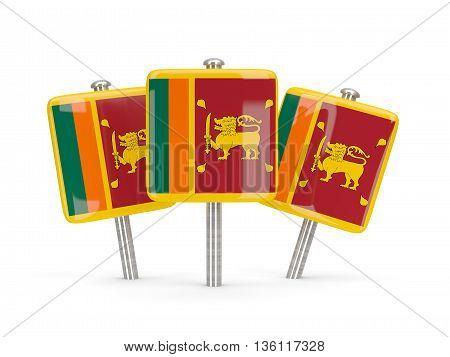 Flag Of Sri Lanka, Three Square Pins