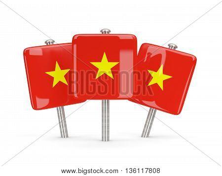 Flag Of Vietnam, Three Square Pins