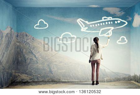 She likes traveling