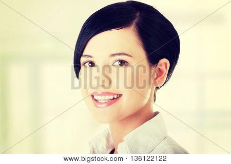 Young happy businesswoman portrait