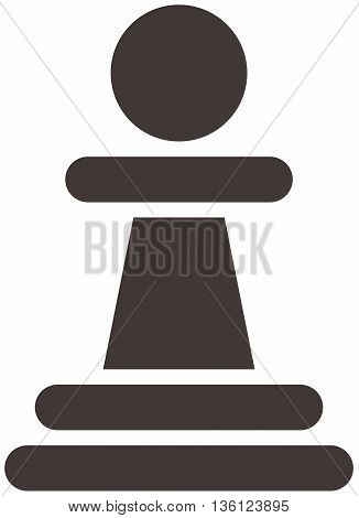 Silhouette of a chess piece - chess pawn