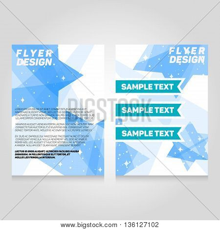Brochure flier design template. Vector concert poster illustration. Leaflet cover layout in A4 size.