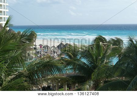CANCUN, MEXICO - January 30, 2016. The Westin Lagunamar is an ocean front luxury resort and spa in Cancun Mexico.