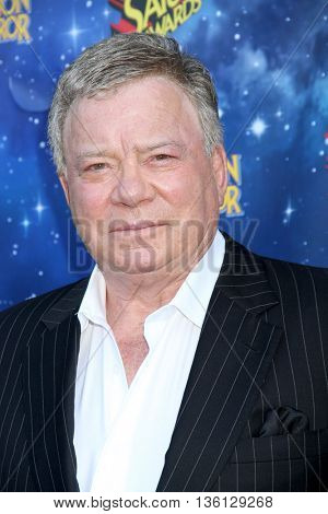 William Shatner arrives at the 42nd Annual Saturn Awards on Wednesday, June 22, 2016 at the Castaway Restaurant in Burbank, CA.
