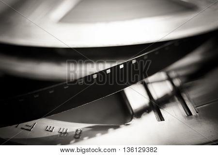Super 8 Mm Film Reel Macro Close Up, Movie Symbol