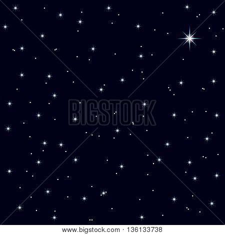 starry night sky of Christmas night, festive background