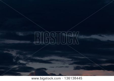 Black Cloud In Dark Night Sky Background