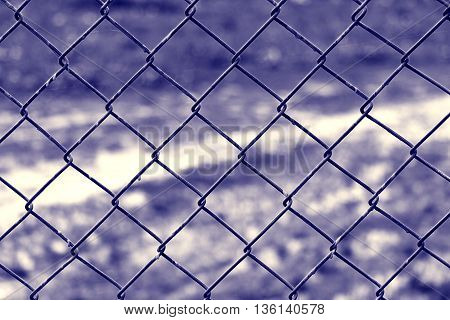 metal grille on the fence protection, rusty,