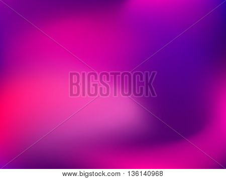 Abstract blur gradient background with trend pastel pink, purple, violet, magenta and ultramarine colors for deign concepts, web, presentations and prints. Vector illustration.