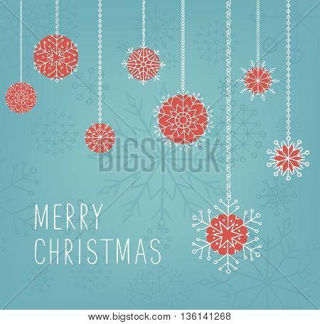 Merry Christmas lettering design. Vector illustration. Season cards, greetings for social media.