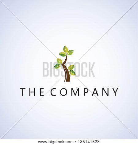 tree logo ideas design vector on background