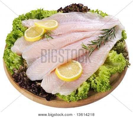 Fresh Fish Fillet And Vegetables