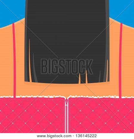 Vector Illustration Girl Back eps 8 file format