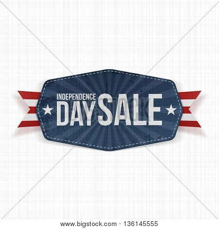 Independence Day Sale paper Label. Vector Illustration