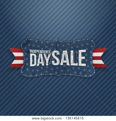 Independence Day Sale patriotic Tag. Vector Illustration