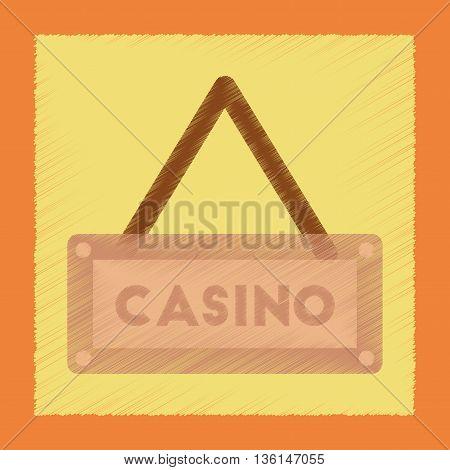 flat shading style icon poker casino sign