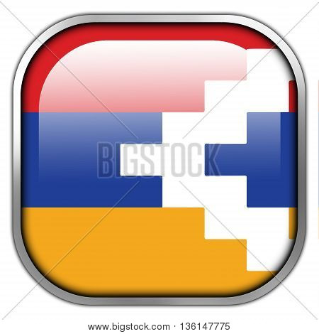 Flag Of Nagorno Karabakh, Square Glossy Button