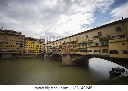 Ponte Vecchio in Florence in Italy (Long Exposure)
