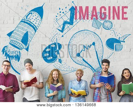 Imagine Ideas Creativity Imagination Light Bulb Concept
